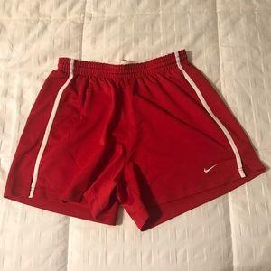 NIKE girls' running shorts | red/white